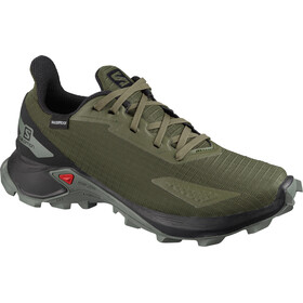 Salomon Alphacross Blast CSWP Buty Dzieci, olive night/black/castor gray
